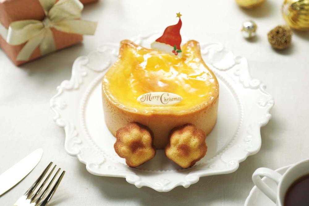 """ねこ型チーズケーキ専門店「ねこねこチーズケーキ」のクリスマスケーキ、""""肉球""""マドレーヌ付きも -"""