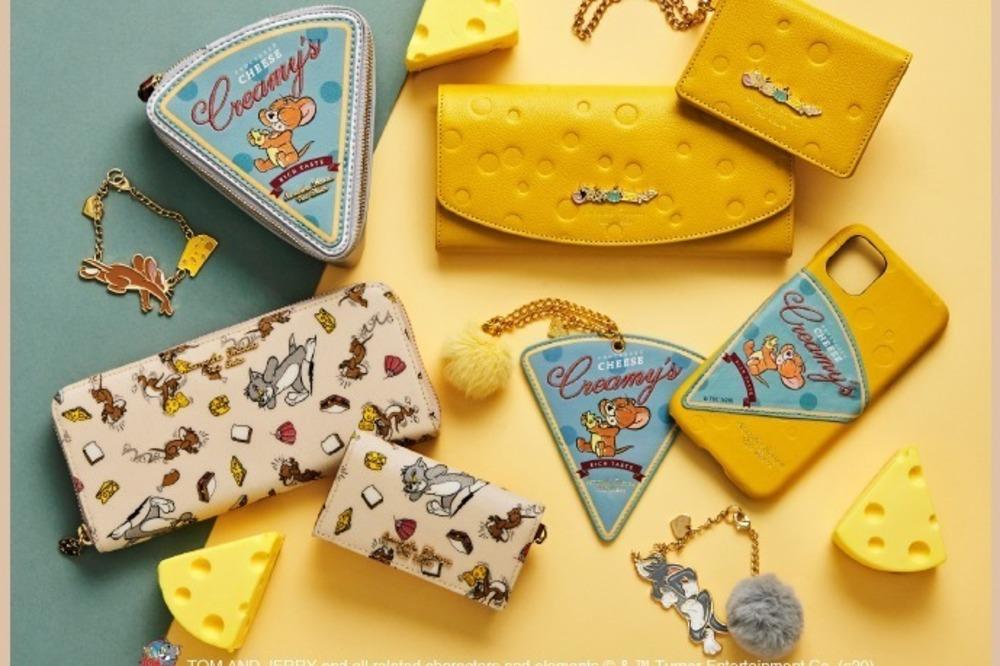 サマンサタバサプチチョイス「トムとジェリー」穴あきチーズの型押し長財布やレザー小物など -