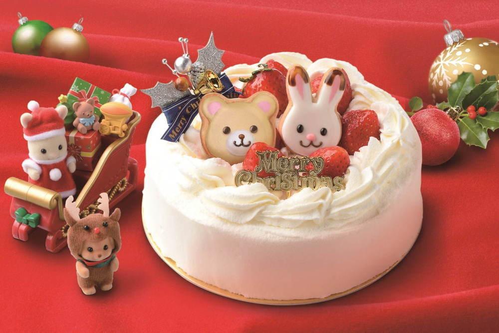 「シルバニアファミリー」クリスマスケーキ2020、3Dのうさぎ&ねこケーキなどが自由が丘で -