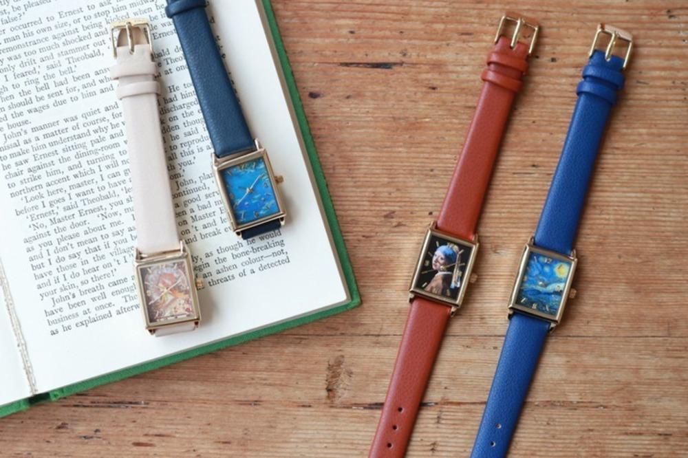 アート鑑賞気分が楽しめる「絵画ウォッチ」モネ・ミュシャ・ゴッホ・フェルメールの名作が腕時計に -