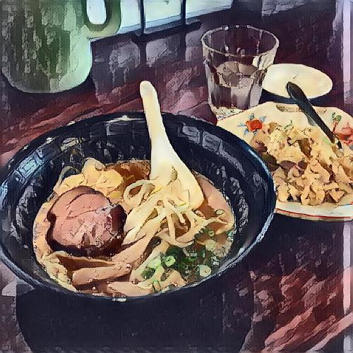 つけ麺(79.32%) ラーメン(11.23%) すき焼き(7.25%) ビビンバ(0.84%) チャーシューメン(0.52%)