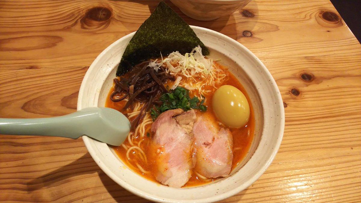 今日のランチは、#麺屋三乃和 濃厚旨辛醤らーめん