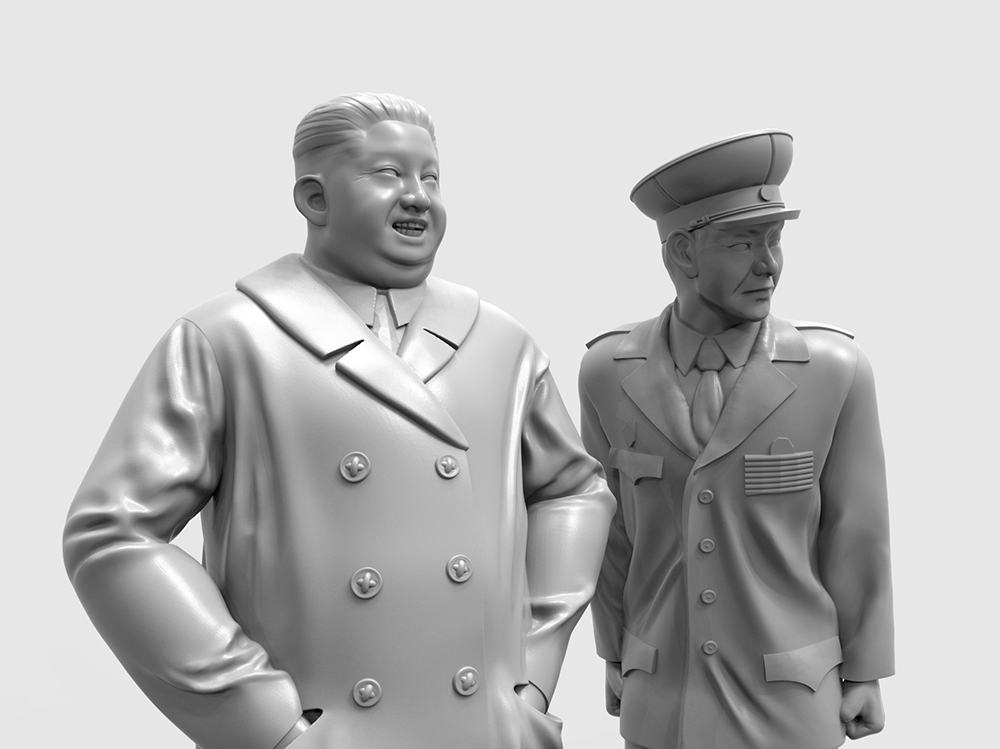 →  首領の傍らには緊張した面持ちで話を聞く軍幹部が... #プラモデル #プラモ #Resinkits #Scalemodel