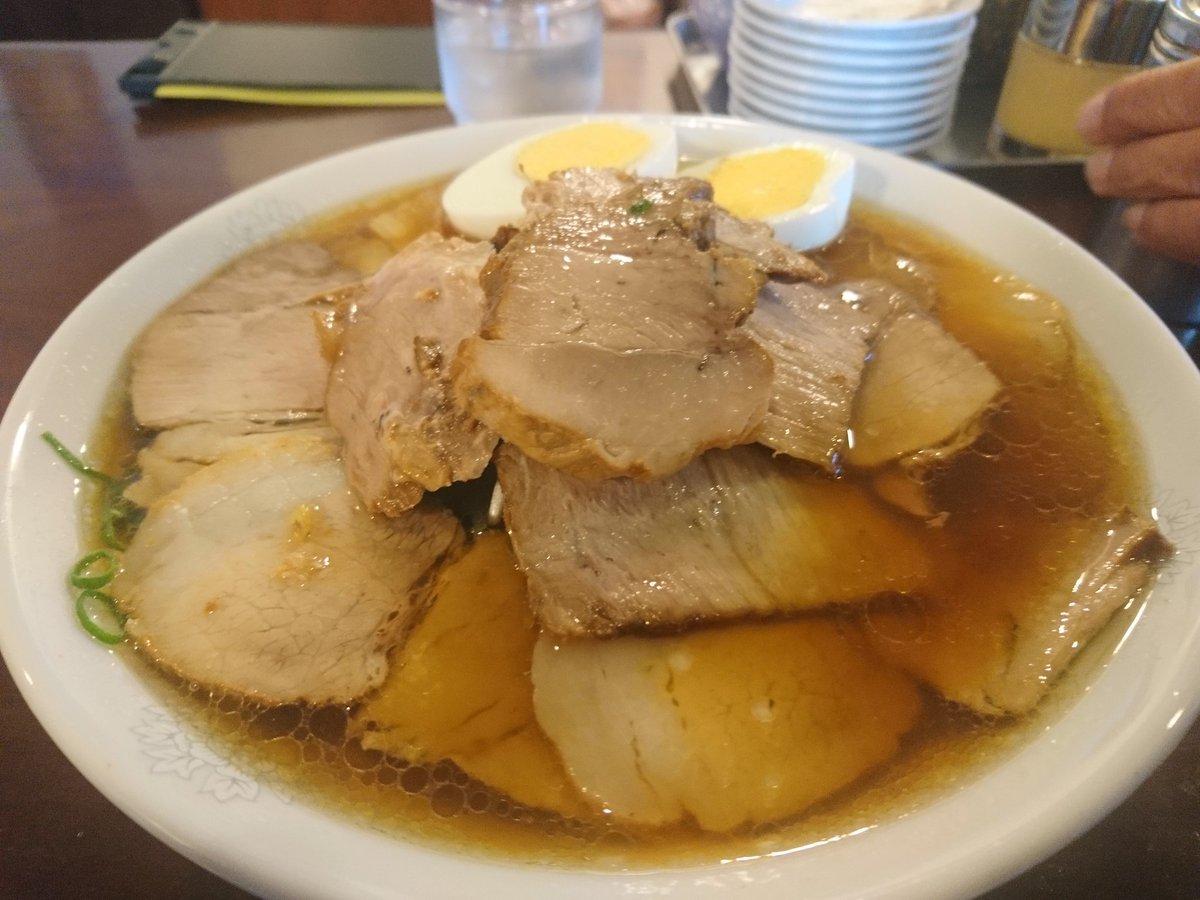 隣市にあるラーメン屋のチャーシュー麺卵付き大盛り
