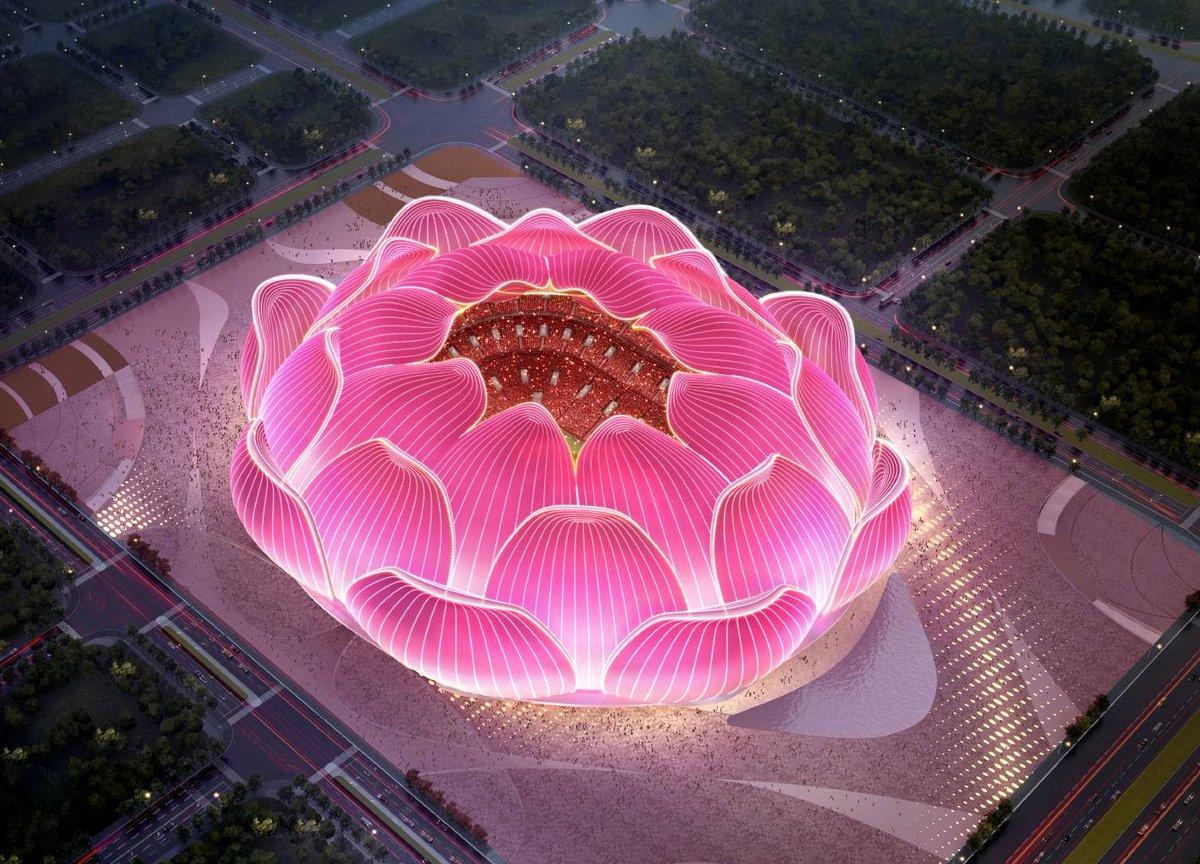 お隣さん広州恒大の新スタジアムのイメージ写真
