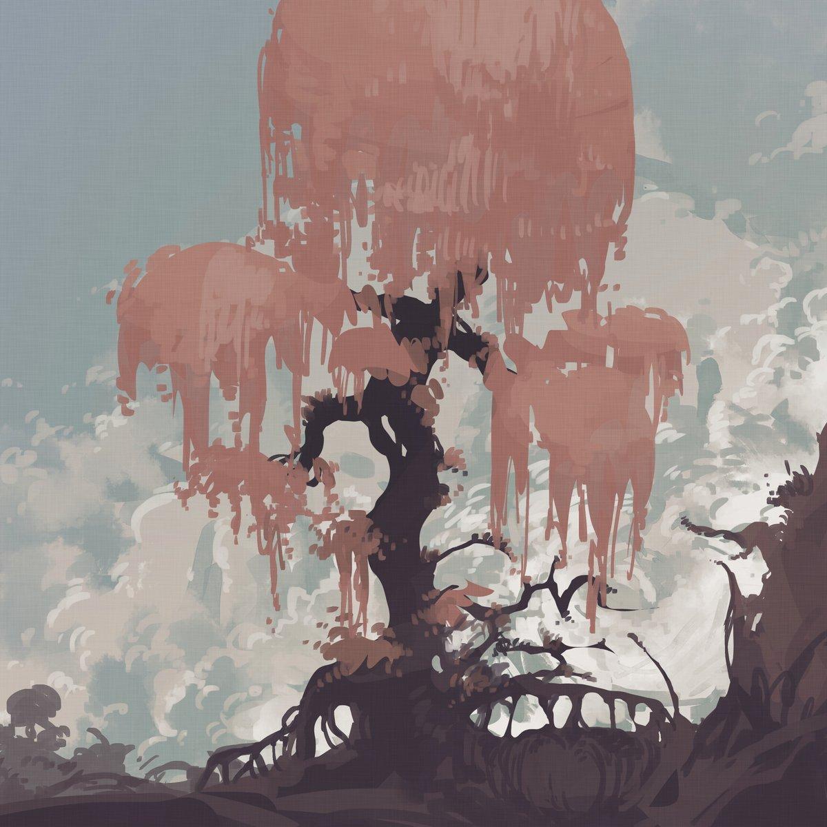 配色で迷ってたらよさげなカラーパレット見つけたので風景画描きました