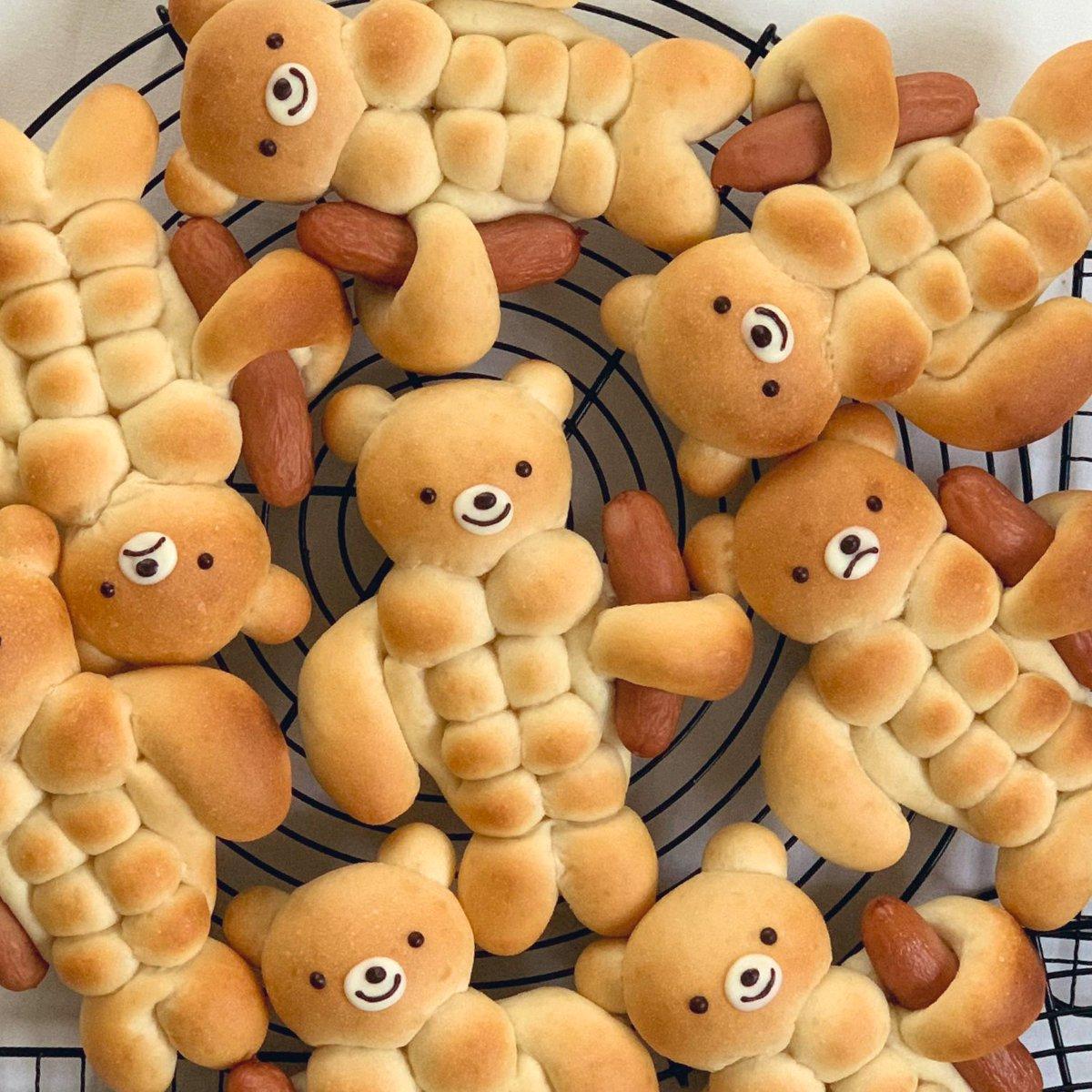 ここの所ずっと、 筋肉くまパンのレシピ作りに励んでいたのですが、ついに完成の予感