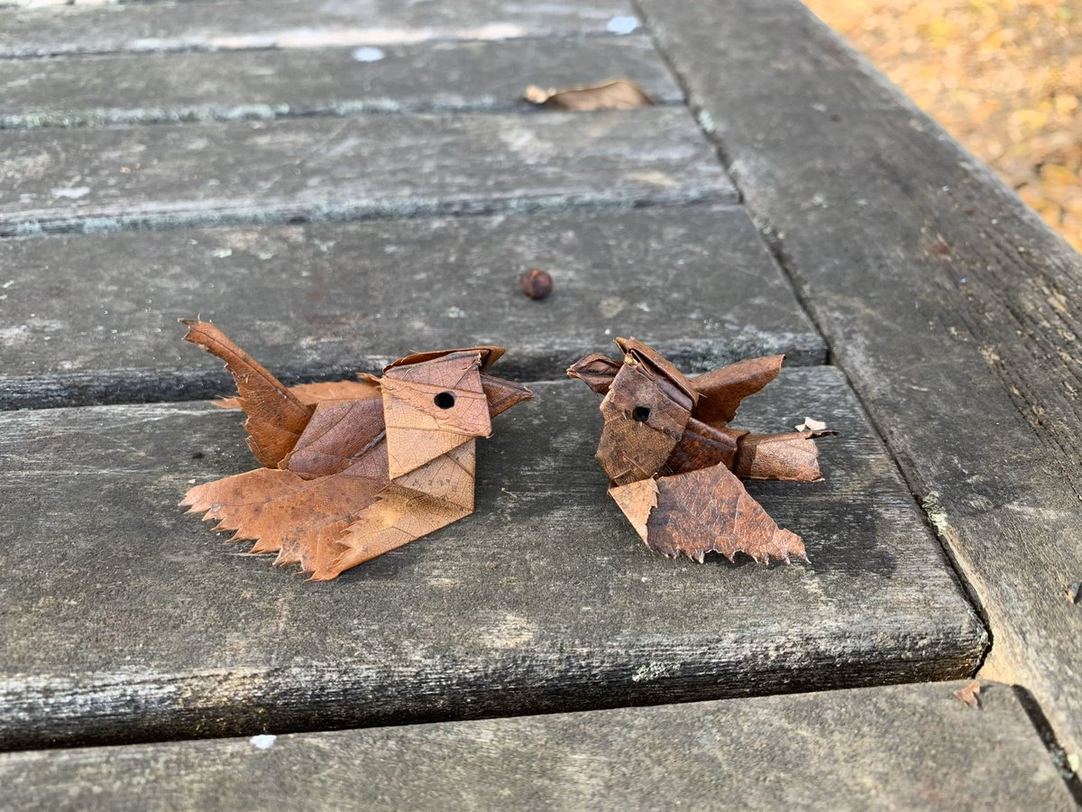 五羽くらい折っているとだんだん形が決まってきて、結局十羽くらい折りました^ ^