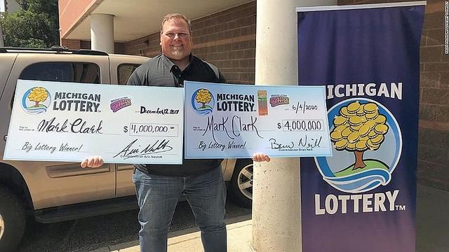 【凄すぎ】アメリカの男性、400万ドルの宝くじに当せん 3年ぶり2度目    この男性は3年前にも400万ドル(約4億3000万円)に当せんしており、2度目の賞金獲得となった