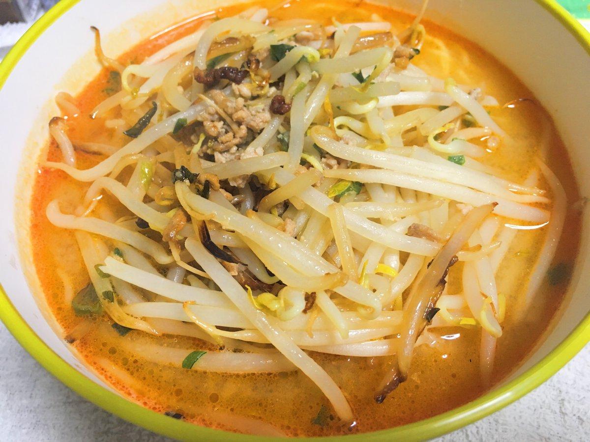 大晦日の朝ラーメンは、坦々麺(^^) #おうちごはん