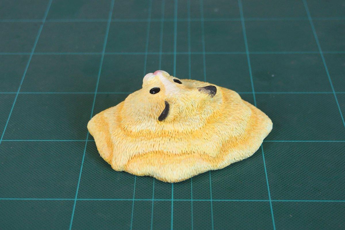 猛暑にやられて溶けていくハムスターを作ってみました