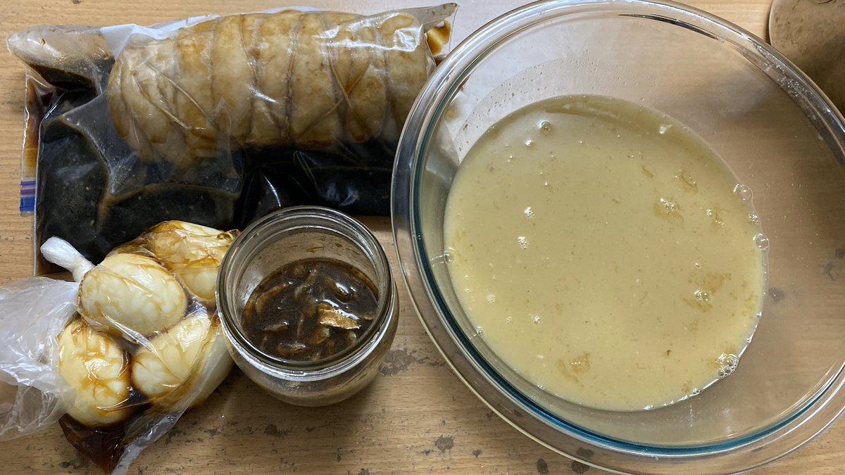 濃厚魚介豚骨スープ チャーシュー 味玉 自家製かえし  年越しラーメン美味しく出来てたらいいな