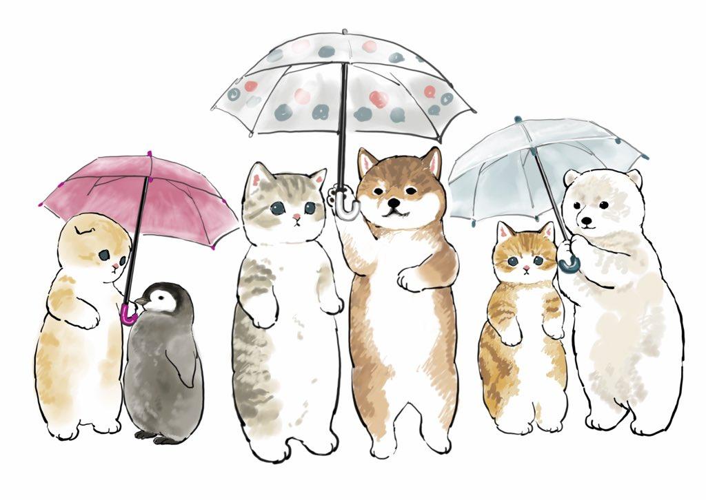 もふもふ相合傘