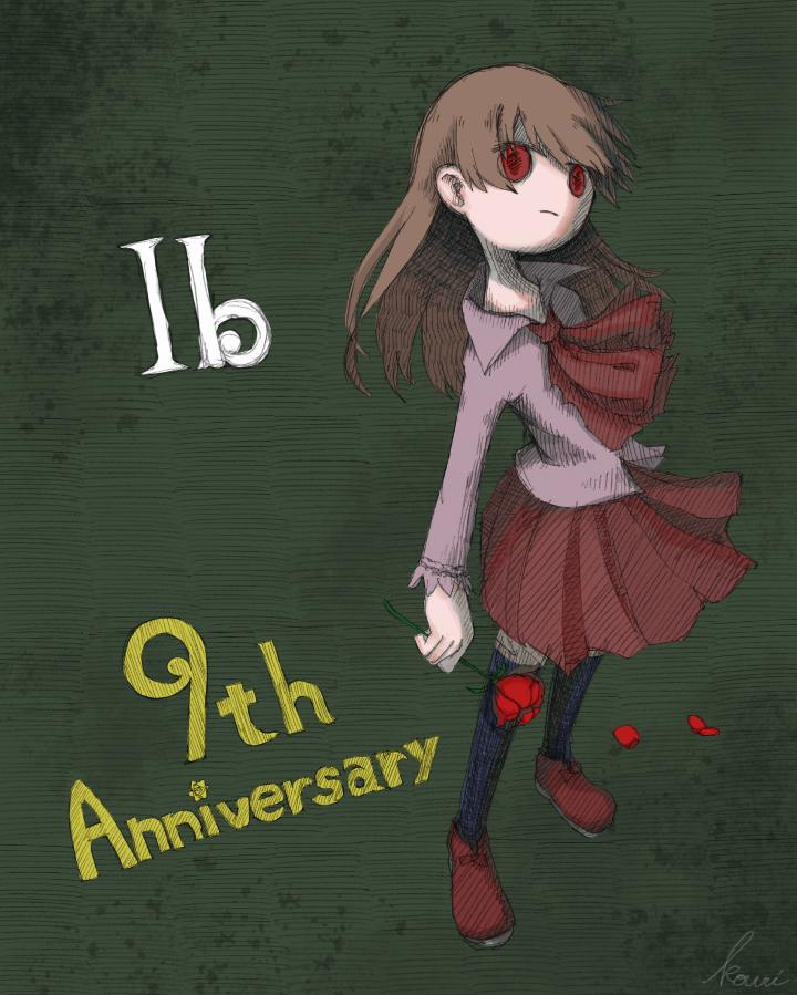 Ib公開9周年の記念イラスト。