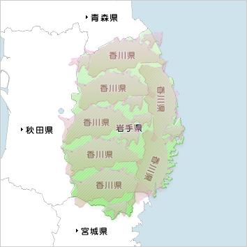 県境をまたいではいけない…ならば岩手県内の移動はいいのかな…と思うけど、香川県を横断する距離を軽く移動してしまう岩手県民