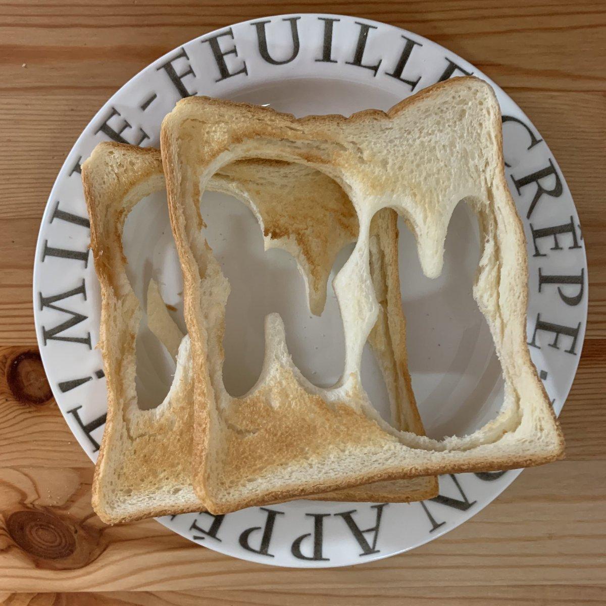 息子の朝食と母の朝食