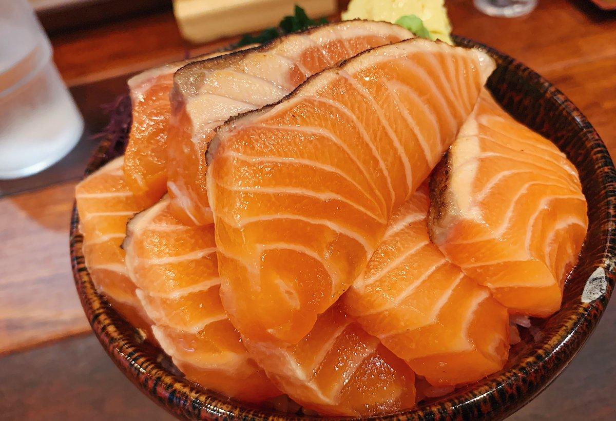【波の】 @東京:渋谷駅から徒歩6分  香ばしい「炙りサーモン丼」を食べられるお店