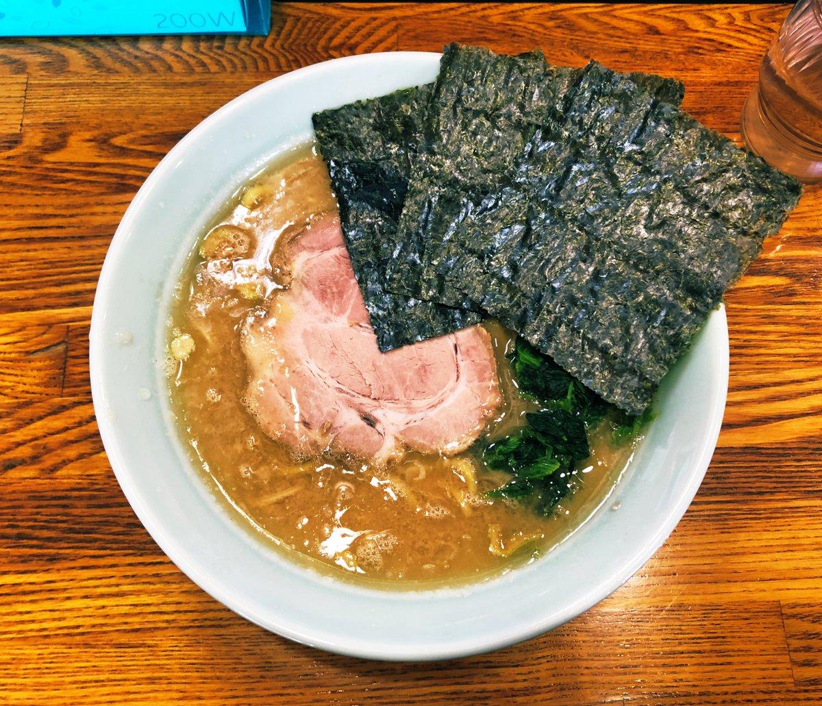新潟で一番好きな家系ラーメン 心一家 これも5年ぶりくらいに食べた 新潟の仕事が多くなったから地元のご飯屋さんに色々行けて嬉しい