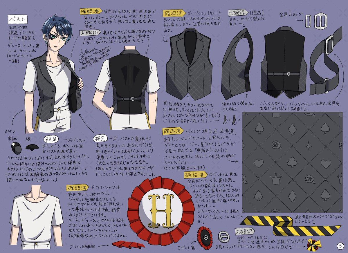 ハーツラビュル寮服の衣装設定(1/2) 全部で6枚あります