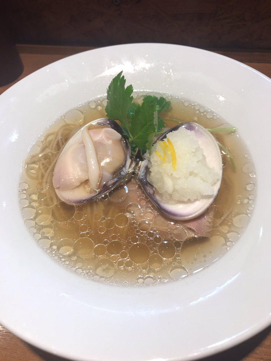 よしかわの蛤ラーメン美味しかった🤤 ラーメン納め