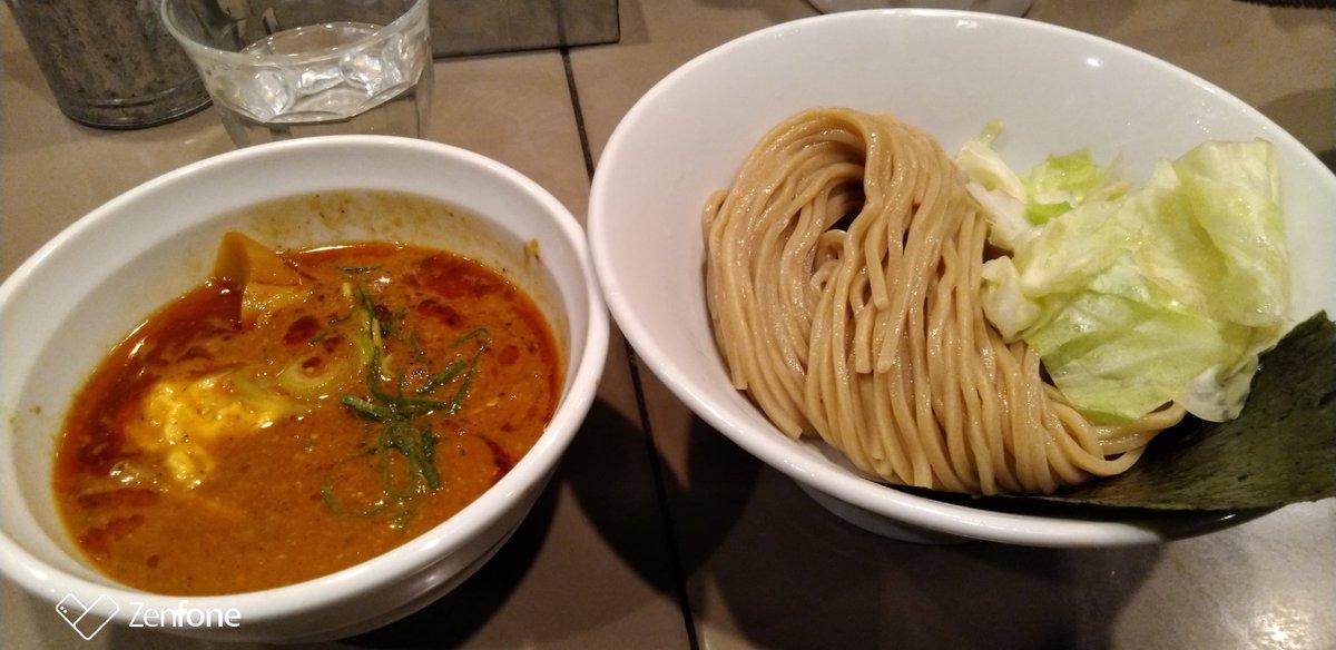 【夕ご飯】 五ノ神さんでつけ麺からのくら寿司。カロリー助かる。
