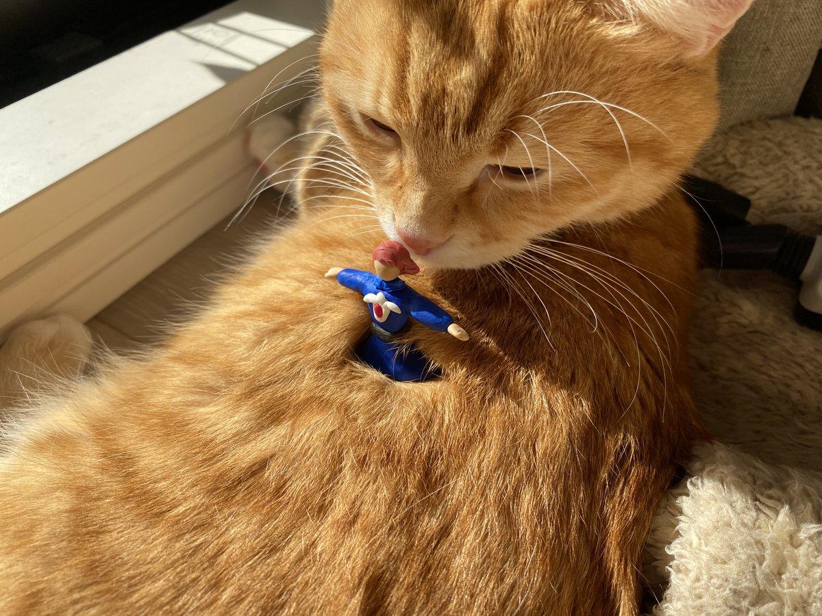 #猫のいる暮らし #猫好きさんと繋がりたい #風の谷のナウシカ #粘土細工