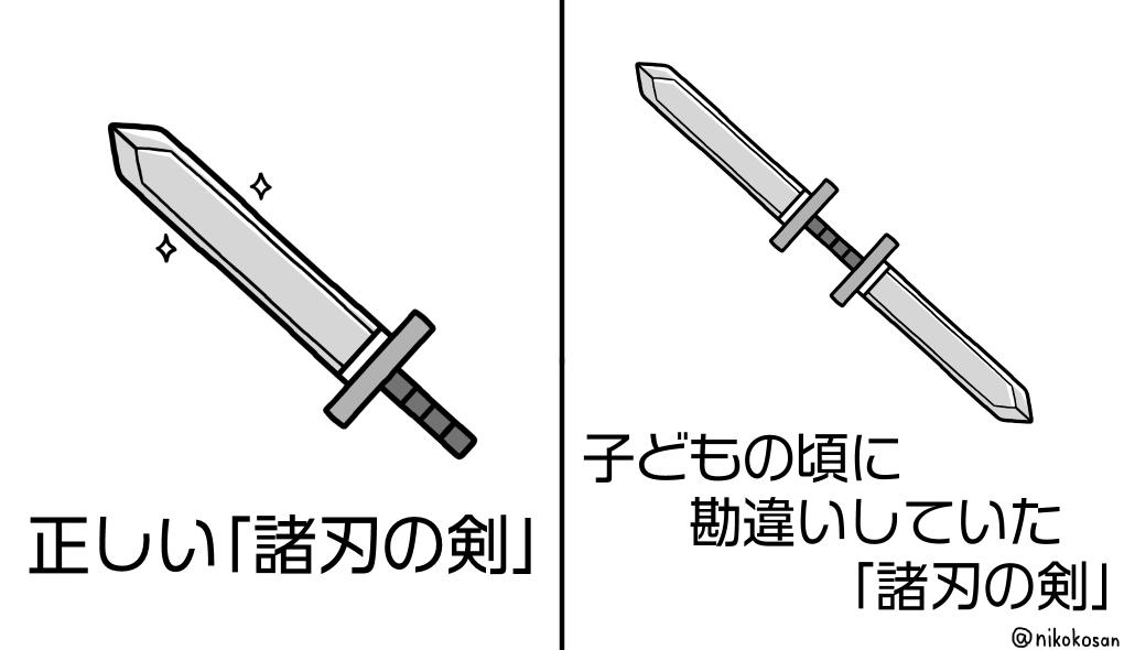 「両側に刃がついていて自分を傷つけかねない剣」って言うから