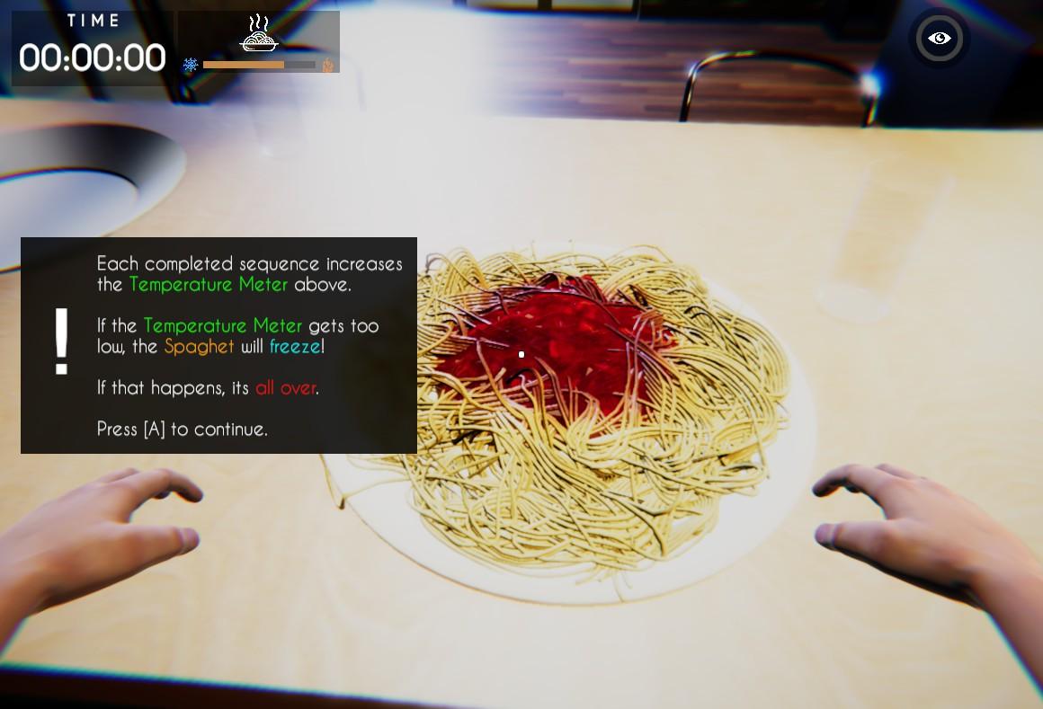 「Spaghet」スパゲッティを殴って温めるホラーゲーム