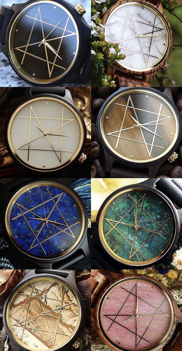 【事前登録受付中】天然石×天然木唯一無二の美しい模様のハンドメイド腕時計NOZの半年に一回の受注生産予約が2月20日20時より開始します