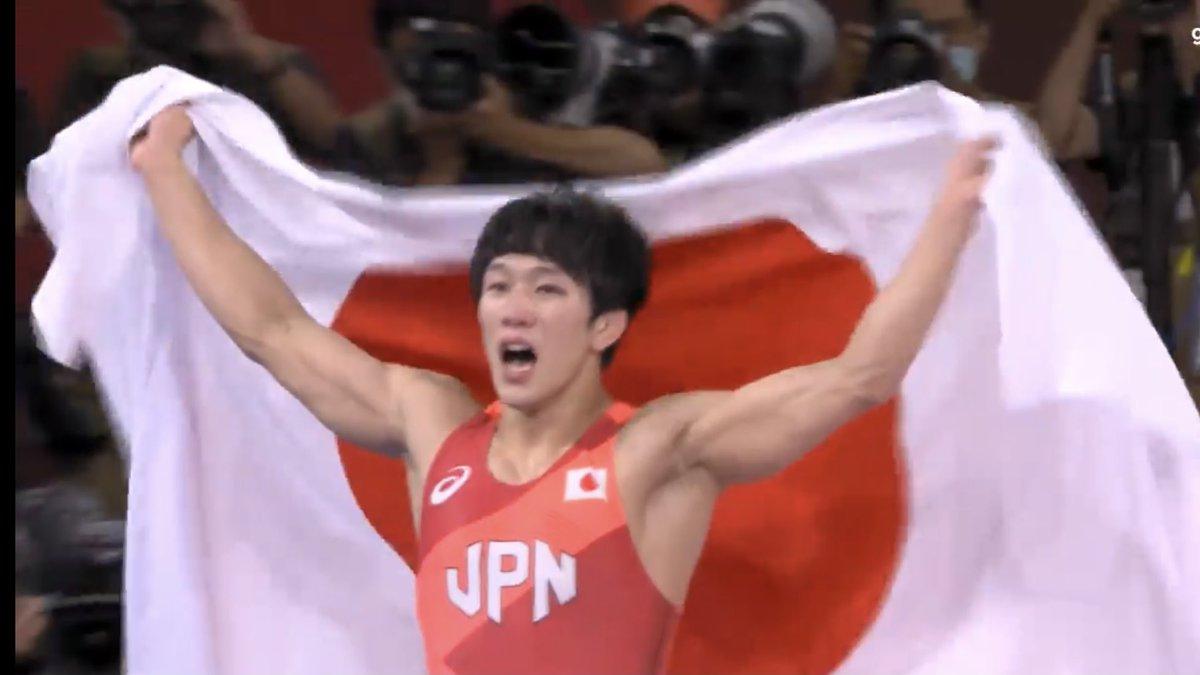 逆転で金メダルをもぎ取ったレスリング男子フリースタイル65kg級の乙黒拓斗選手