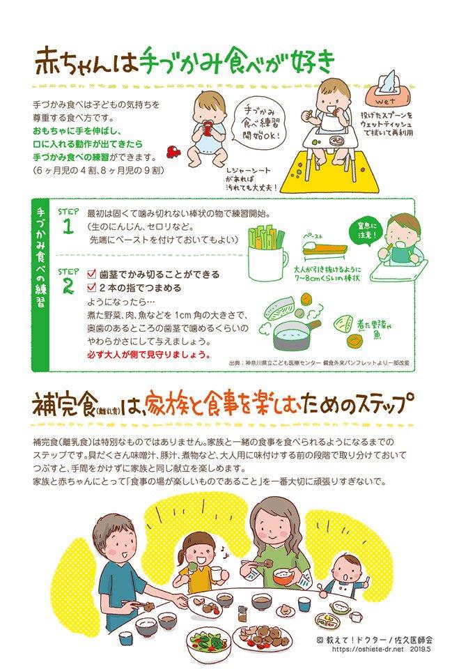 離乳食は無理しなくていい、貧血を防ごう、手づかみ食べなど触れてます