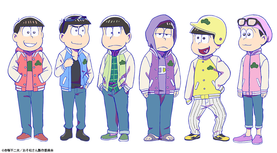/  TVアニメ「おそ松さん」第3期  6つ子新衣装 全身ショットを初公開