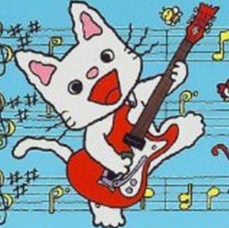この前たまたま気が付いたんだけど、ヒラスァさんのギターノンタンとお揃いなんですよ………