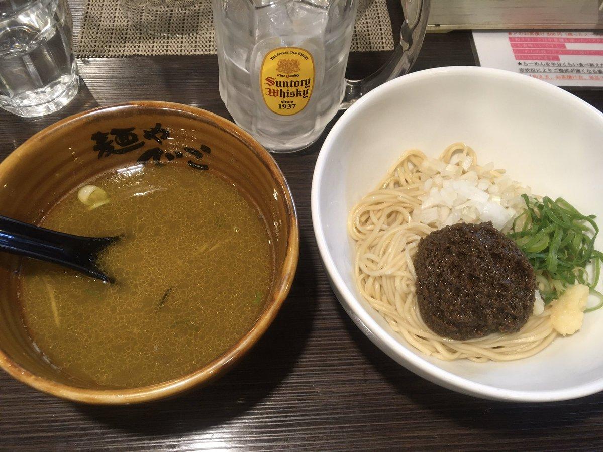 つけ&スープ割りx牡蠣和え玉のマイデフォセットで食べ納め