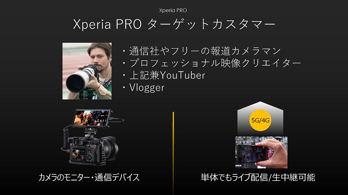 20万円超えのプロ向け5Gスマホ「Xperia PRO」