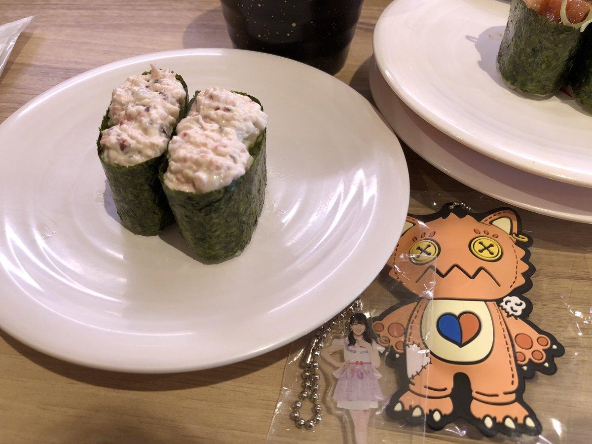 朝食にサラダ軍艦 #かっぱ寿司  実は昔バイトしてました。