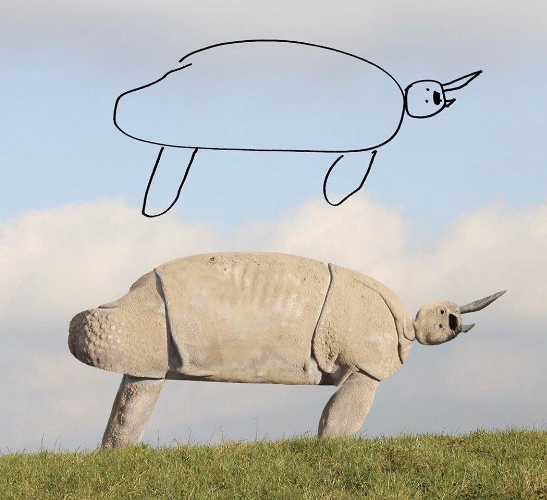 もしも子供が描いた絵をお父さんがリアルな動物に再現したらシリーズ