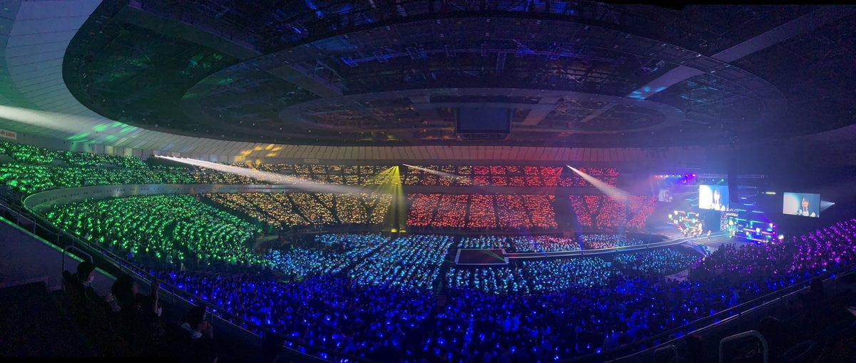 今夜も #横浜アリーナ にキレイな虹🌈がかかりました