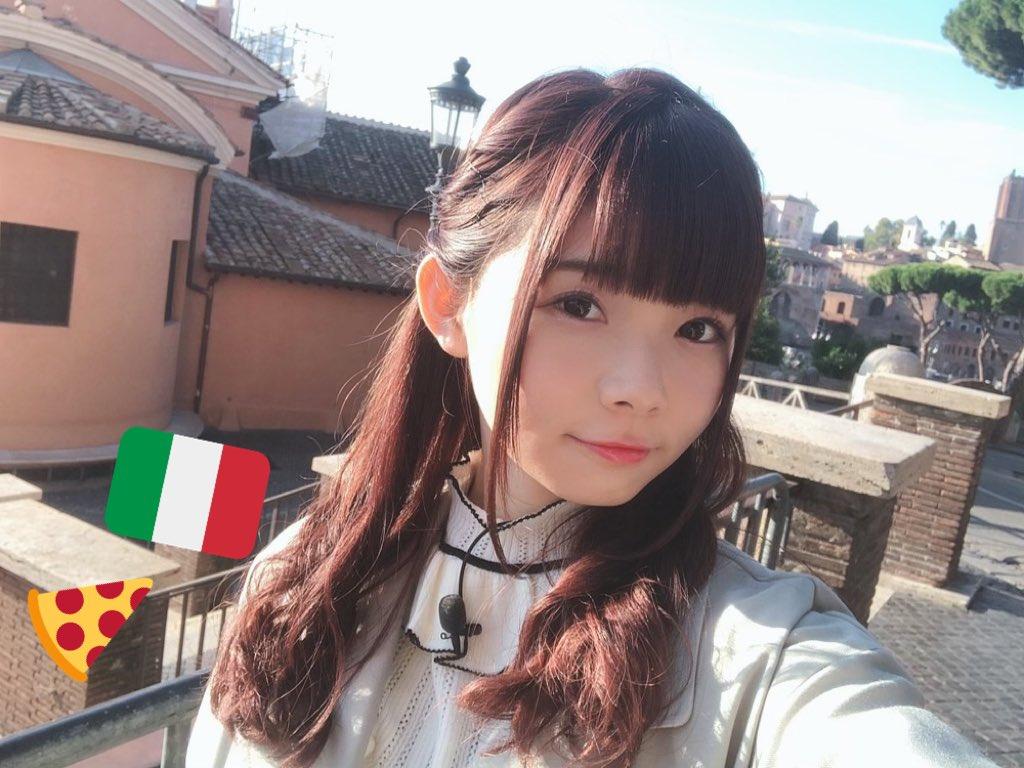 かなこからまわってきた #自撮りつなぎ ふたりともイタリアだから私も🇮🇹 楽しかったな〜😋  お次はきゃん🐹 @Aikyan_  おねがいします(*ˊᵕˋ*)੭ ੈ