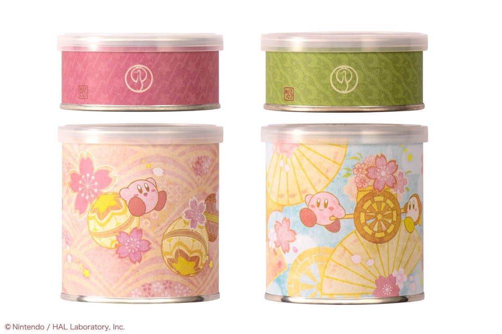 """3月14日〜4月30日までの期間限定で、京都の老舗和菓子屋「鶴屋吉信」から、「星のカービィ」とコラボした和菓子「カービィのまんまる手づくり最中 """"春""""」が新発売されます✨"""
