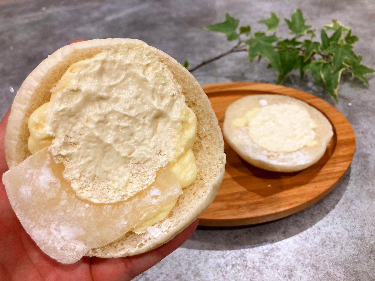 【雪見だいふくみたいなパン】 価格:145円  ロッテの名作「雪見だいふく」と夢のコラボが実現