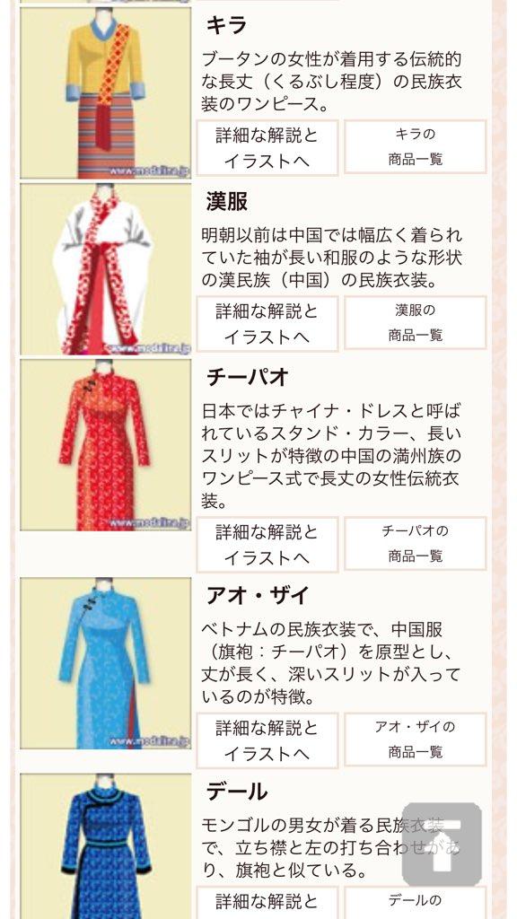 創作の衣装に役立ちそうな神サイトがあったんだが、服の種類とか