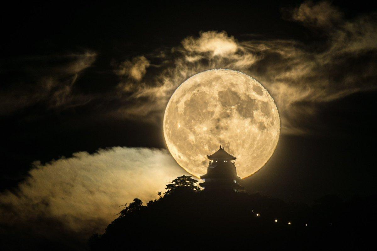 #岐阜城と月 #東京カメラ部 #PASHADELIC