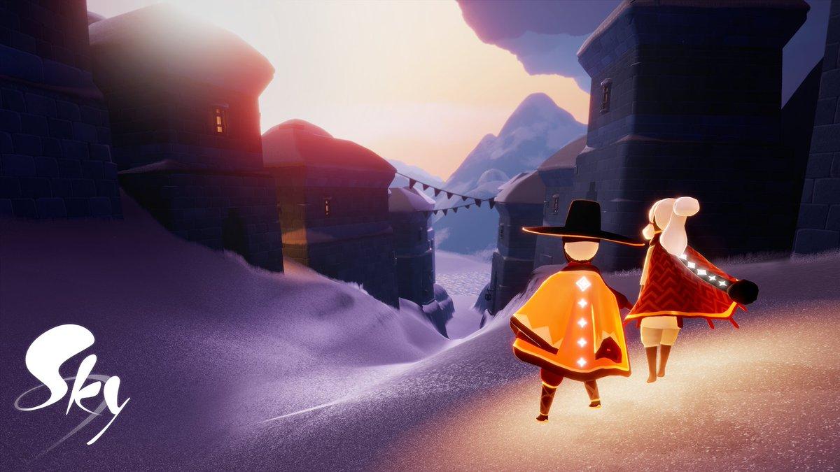 いよいよ「夢かなう季節」が次の更新時刻より #thatskygame に訪れます✨  ⛸新たなキャラクター&物語 🙌新たな感情表現やアイテム 🌨️ 新エリア「夢見の町」&「隠者の峠」  詳細はブログでチェック🔎