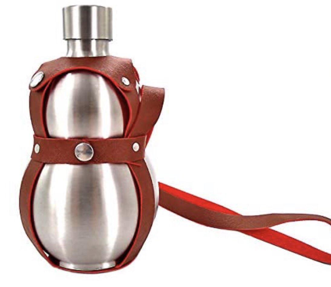 野外飲酒ガチ勢に私がオススメしたいのは、酒飲み伝統の容器「ひょうたん」をステンレスで現代向けに進化させたこちらの一品です