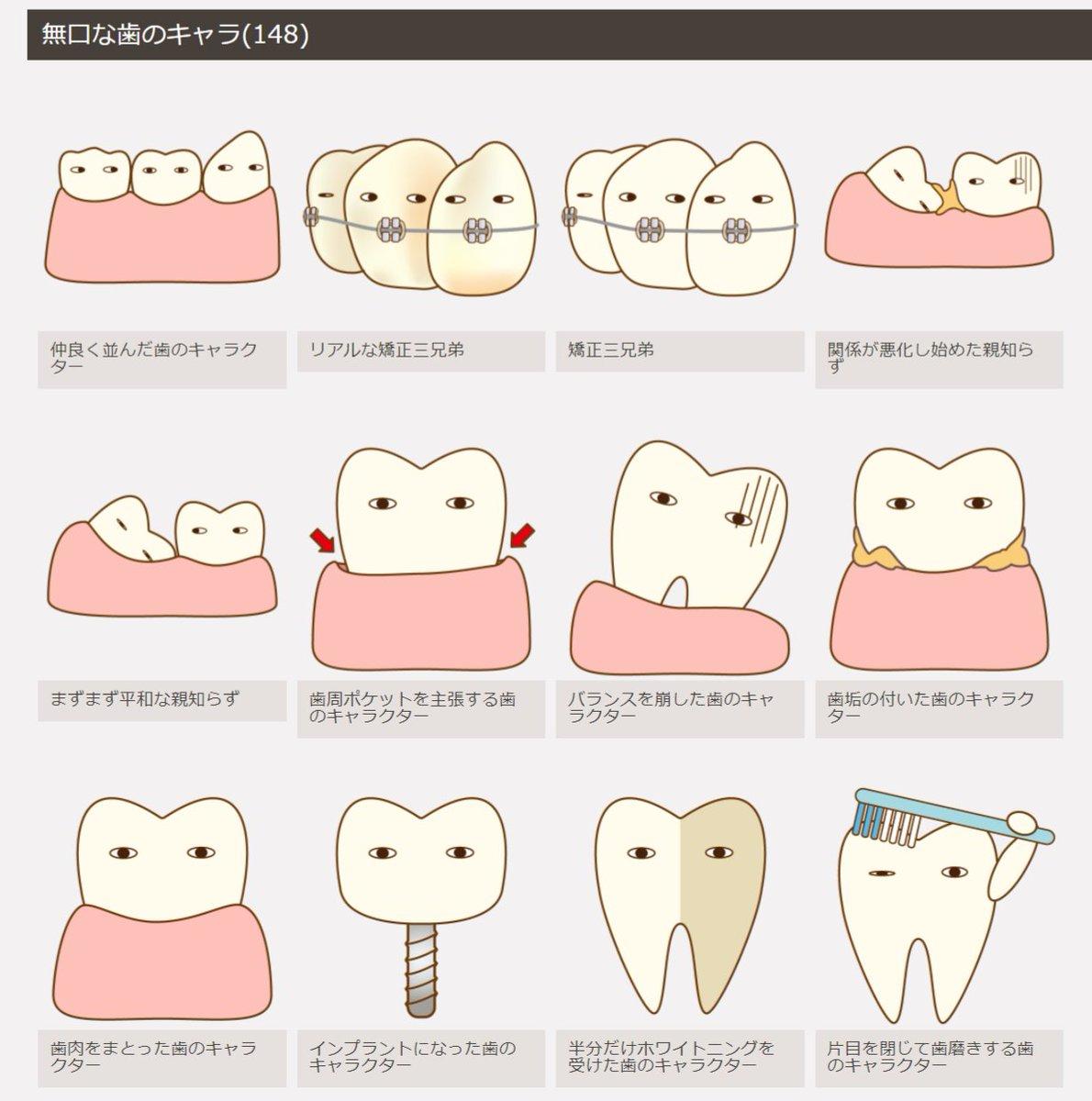 歯科素材.comっていう歯専門のフリー素材があるのを初めて知った