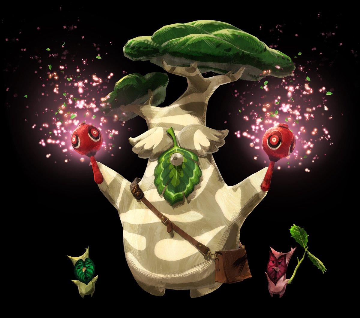 【『ゼルダ無双 厄災の黙示録』-ボックリン】 踊る事が大好きな コログの森の音楽家