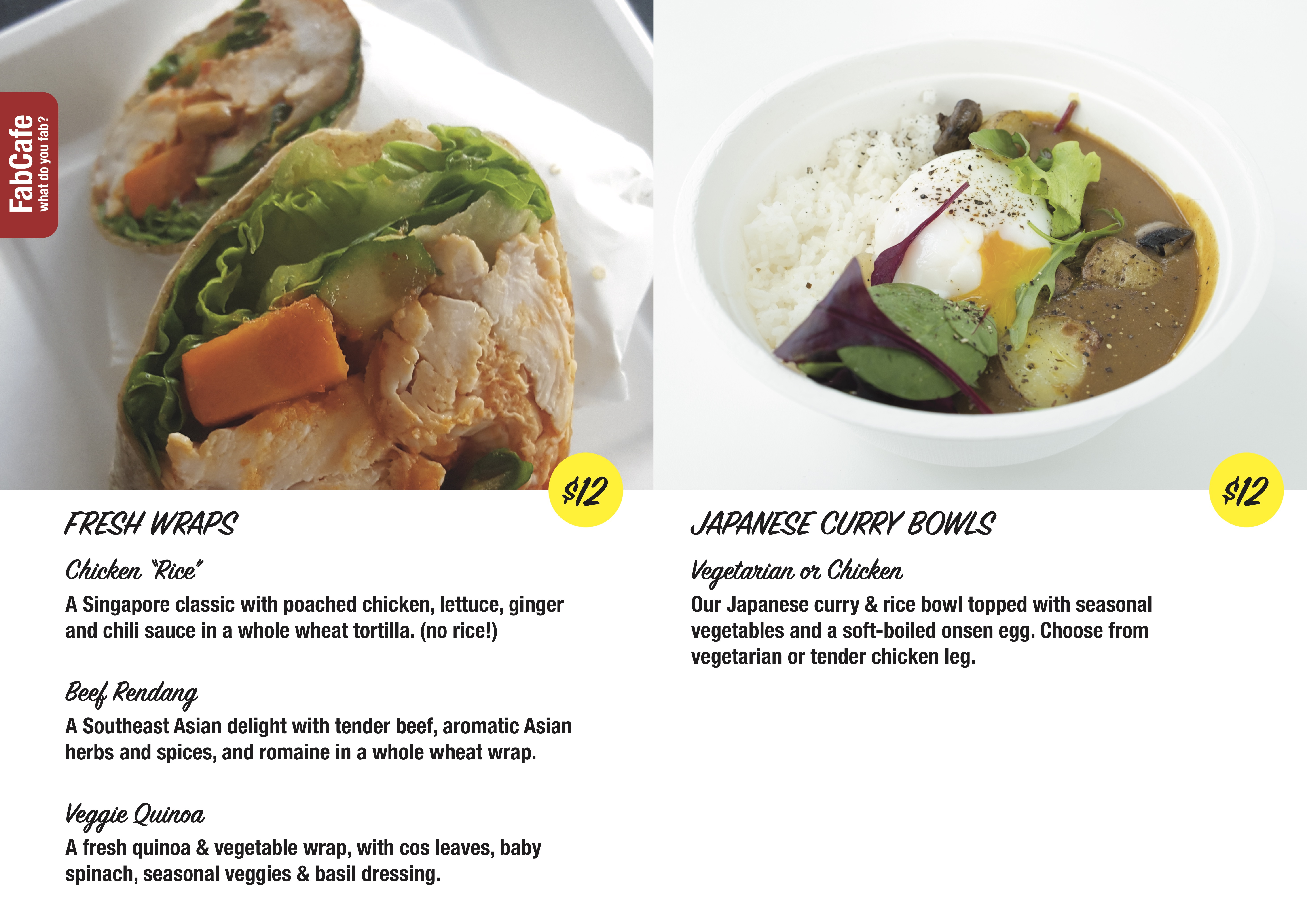 FabCafe Singapore Lunches Wraps and Curry Bowls Coffee