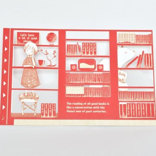 BOOK CARD (女の子とシロクマさん)
