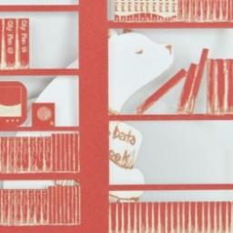 "Thumbnail of ""BOOK CARD (女の子とシロクマさん)"""